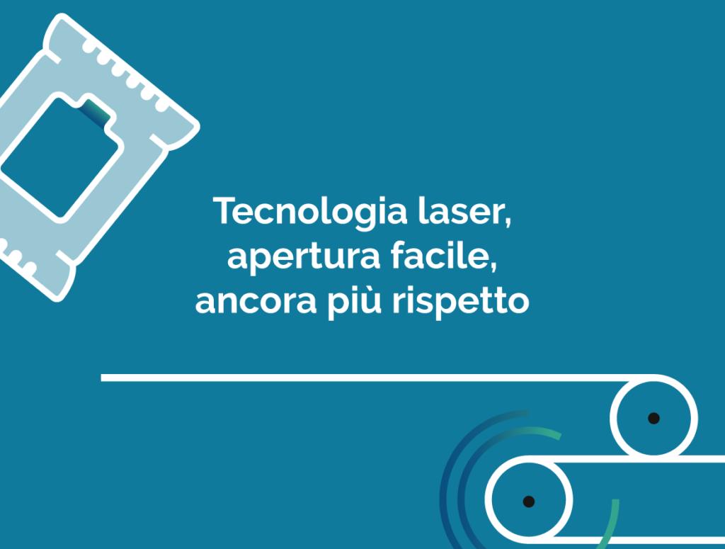 Tecnologia laser, apertura facile, ancora più rispetto